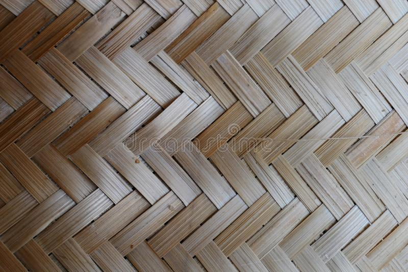 Bamboo or straw weaving. wooden Basket texture background. Bamboo or straw weaving texture as background,vintage Asian craft idea wood background stock photography