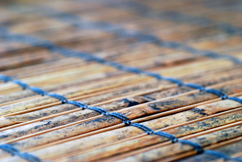 Bamboo table runner. Taken with macro lens royalty free stock photo