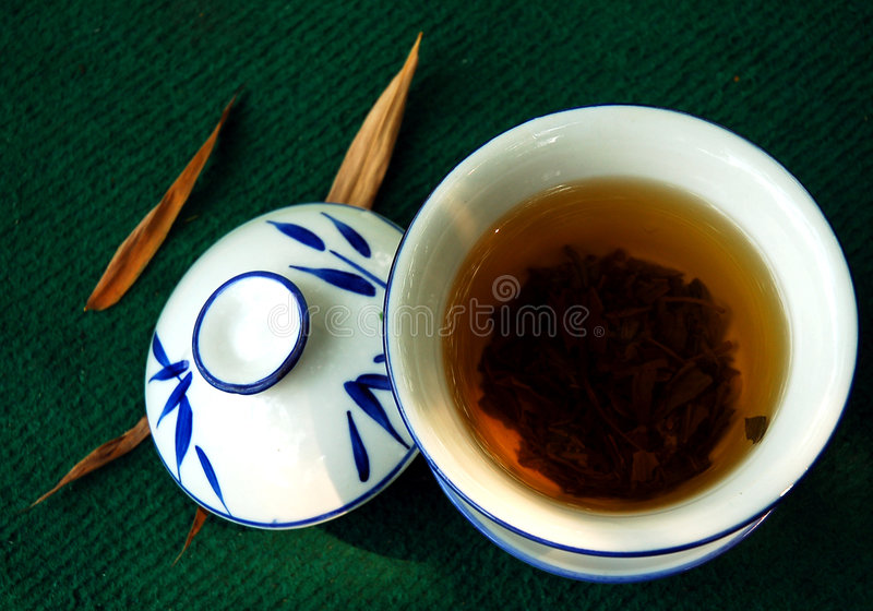 Bamboo tea house royalty free stock image