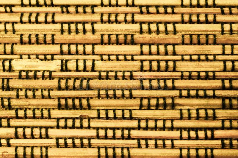Bamboo texture background. weaving wooden pattern royalty free stock image