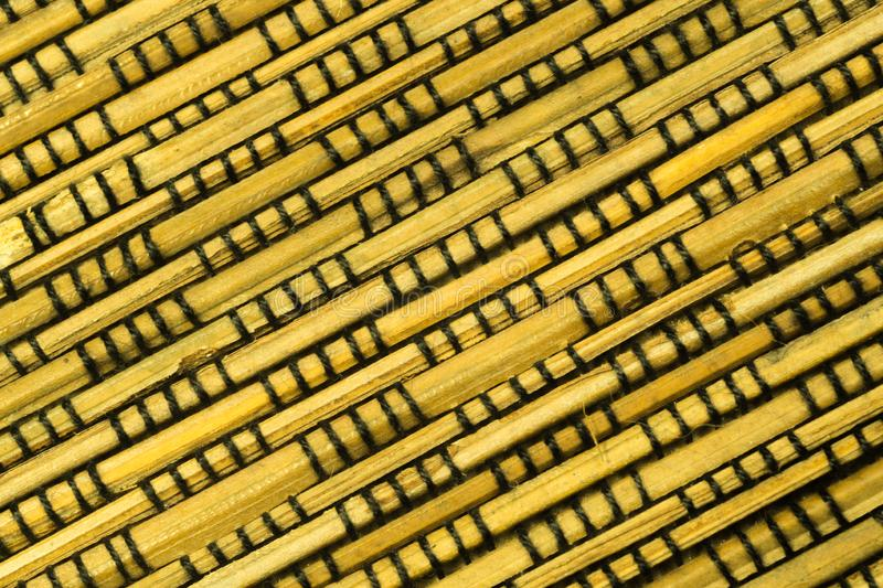 Bamboo texture background. weaving wooden pattern. Texture, wall, natural, backdrop, brown, material, surface, fence, wallpaper, old, striped, panel, home royalty free stock photo