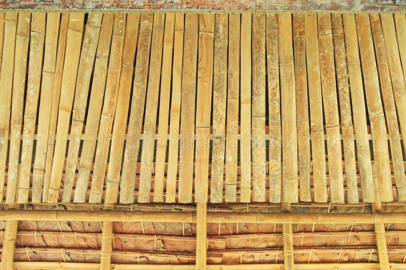 Bamboo and thatch background. Bamboo ceiling and thatch background royalty free stock photos