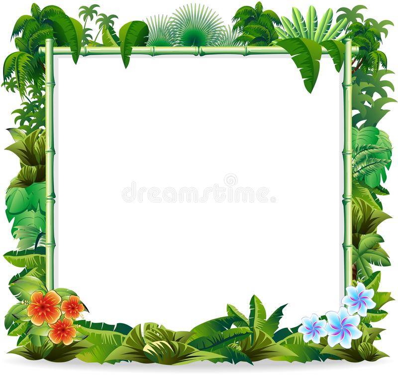 Bamboo Tropical Jungle Background vector illustration