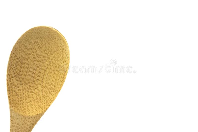 Wooden spoon, isoltaed, high key. Wooden utensil, isolated,high key, room for text, bamboo, great for food ads, cooking etc stock photo