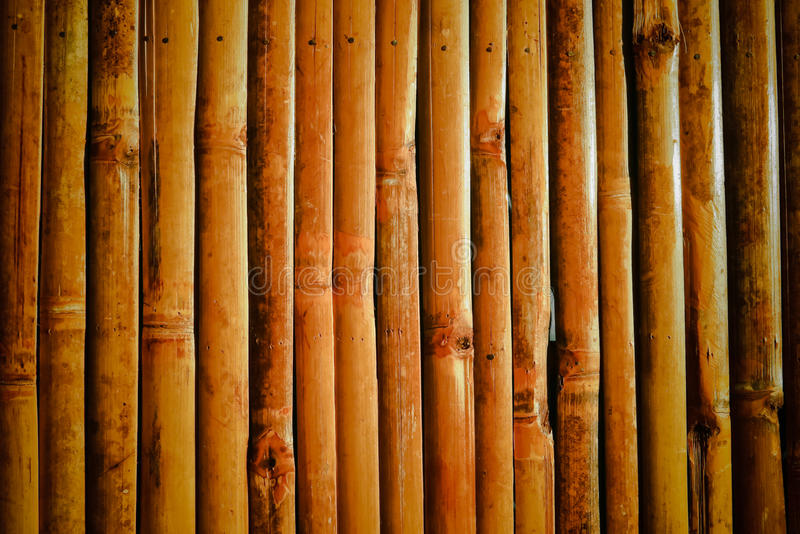 Bamboo wall. Brown bamboo wall nature background royalty free stock photography