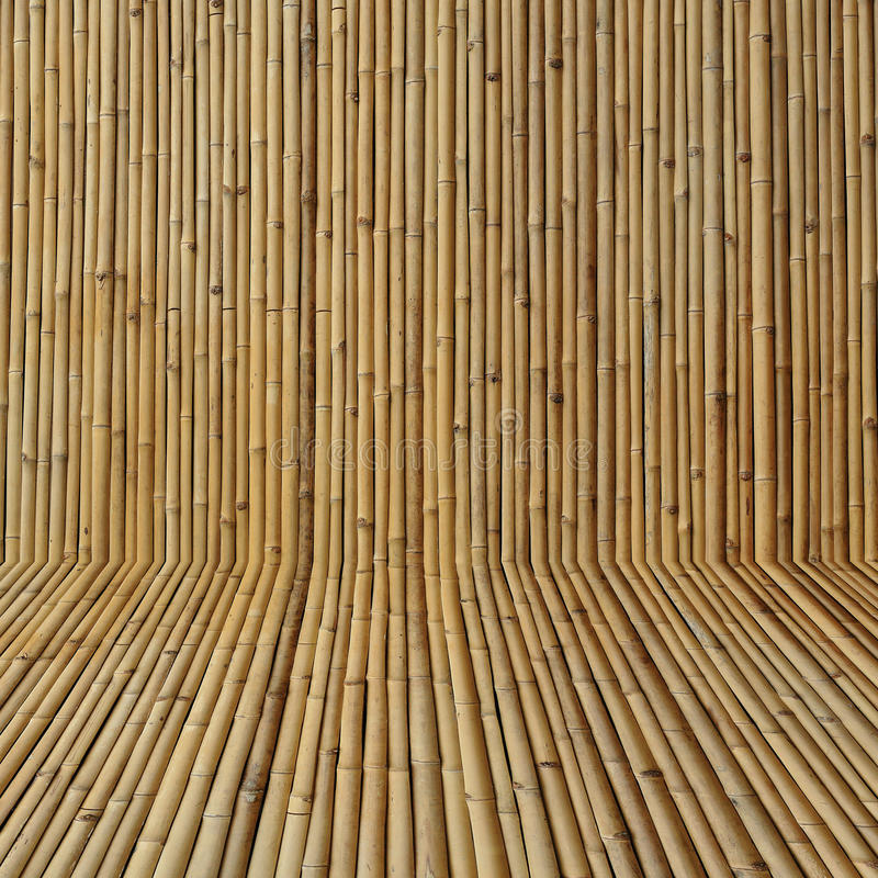 Bamboo wall background. Bamboo wood wall texture background stock photo