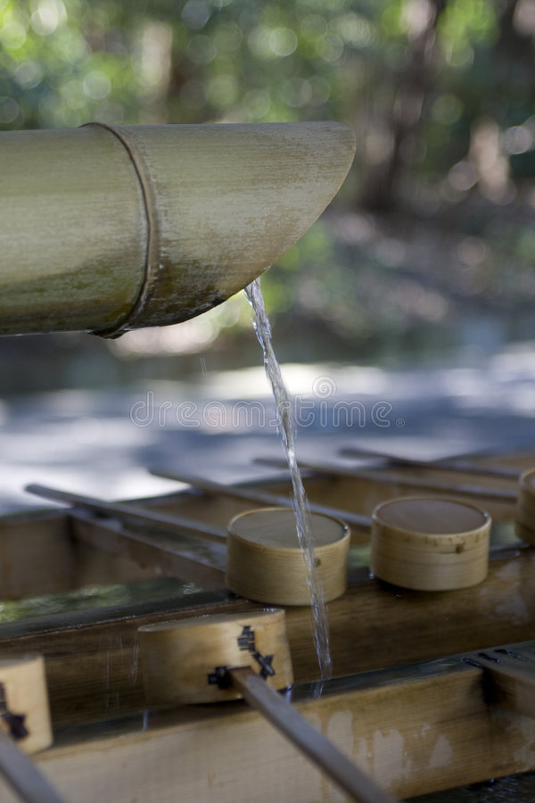 Download Bamboo Water Sink At Shinto Shrine Royalty Free Stock Photography - Image: 9095787