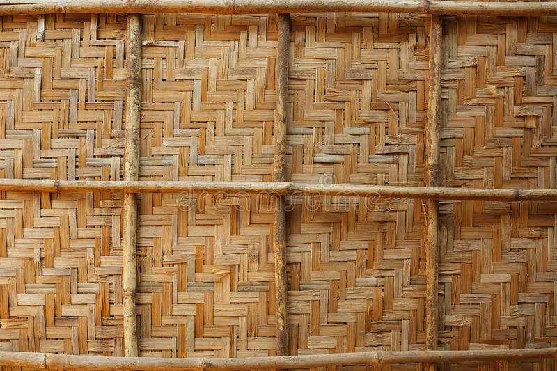 Bamboo weave background, bamboo wood texture royalty free stock photos