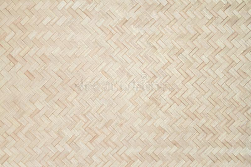 Bamboo weave background, bamboo wood texture traditional thai style pattern nature background royalty free stock images
