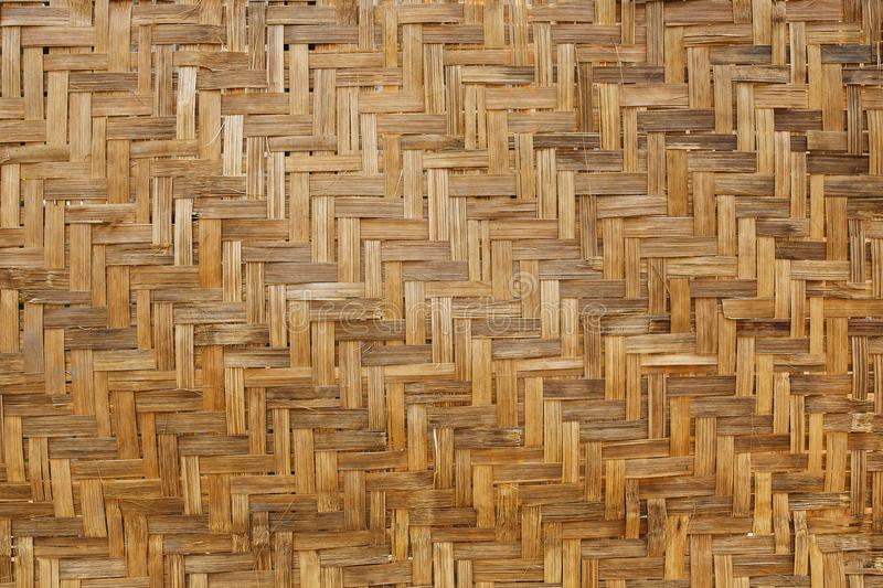 Bamboo weave background, bamboo wood texture stock photography
