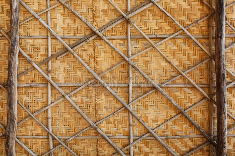 Bamboo weave background, bamboo wood texture stock photo