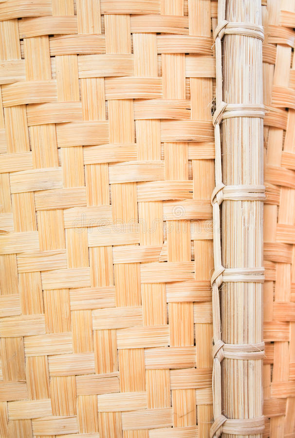Download Bamboo wickerwork Close up stock photo. Image of nature - 20211306