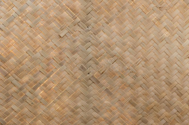 Bamboo wickerwork. Traditional handcraft weave Thai style pattern nature. texture bamboo surface for furniture material. Bamboo wickerwork  background stock photos