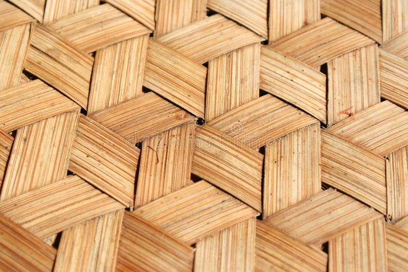 Bamboo wood weave background royalty free stock photos