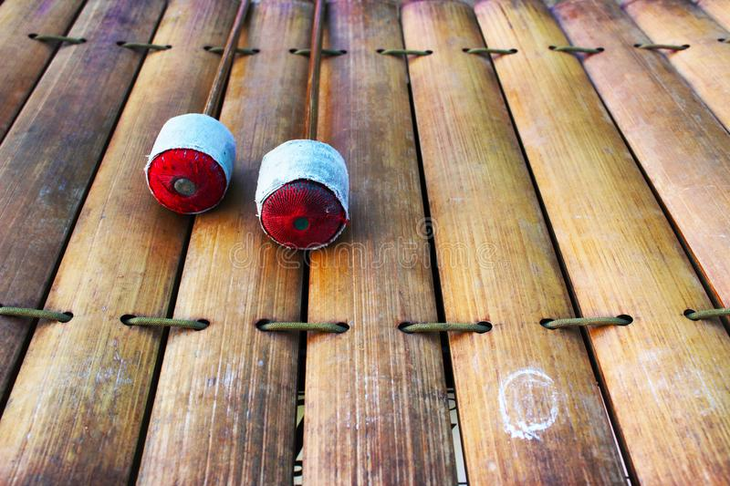 Bamboo xylophone stock photography