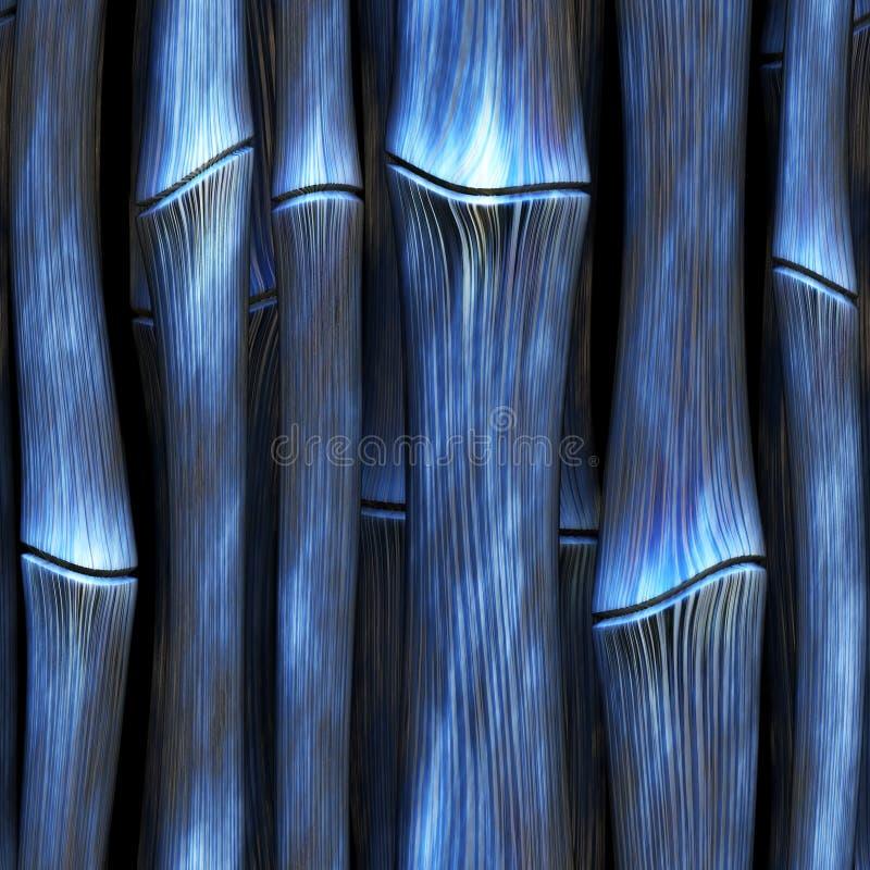 Bambou étranger bleu de SL illustration de vecteur