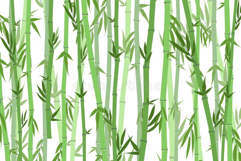 Bambou Forest Landscape Background de bande dessinée Vecteur illustration libre de droits