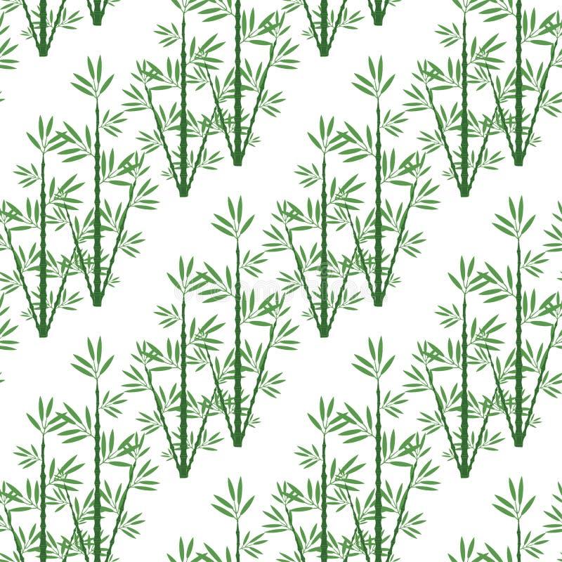 Bambou sans couture de modèle pour un fond illustration de vecteur