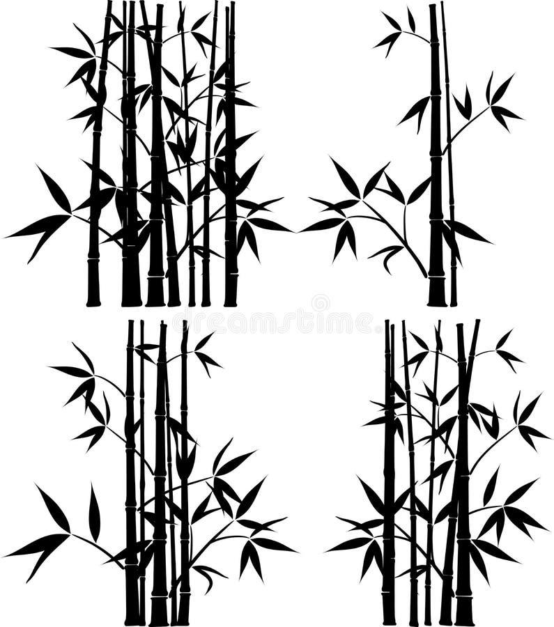 Bambou, vecteur illustration stock