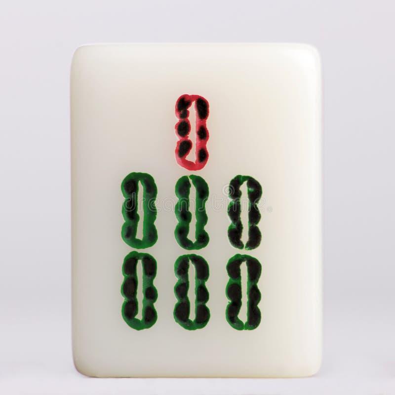 Bambous d'†de Mahjong» images libres de droits