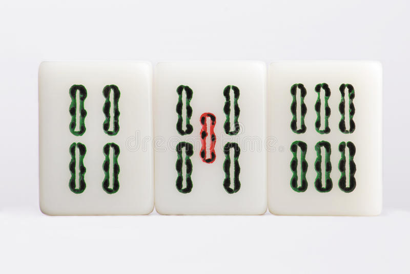 Bambous d'†de Mahjong» photo stock