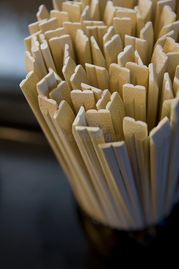 Bambu dos Chopsticks a dieta. fotos de stock royalty free