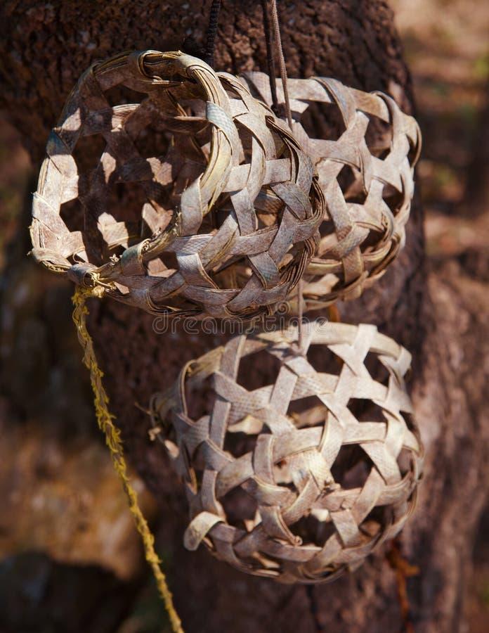 Bambu gjorde fotoet för objekt för kon för rundaform det musks isolerade royaltyfria bilder