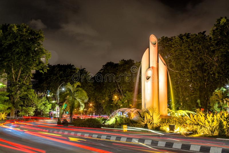 Bambu Runcing von Surabaya-Stadt stockfotos