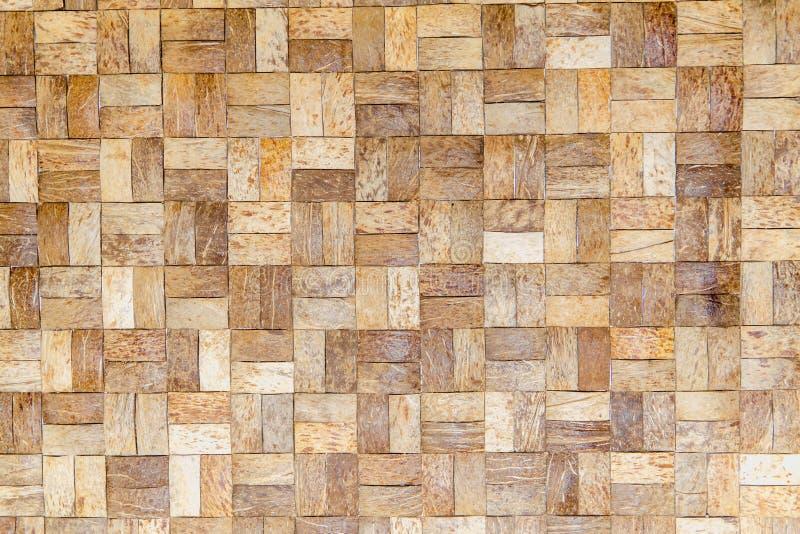 Bambu vävd plan matt naturlig bambubakgrund arkivbilder