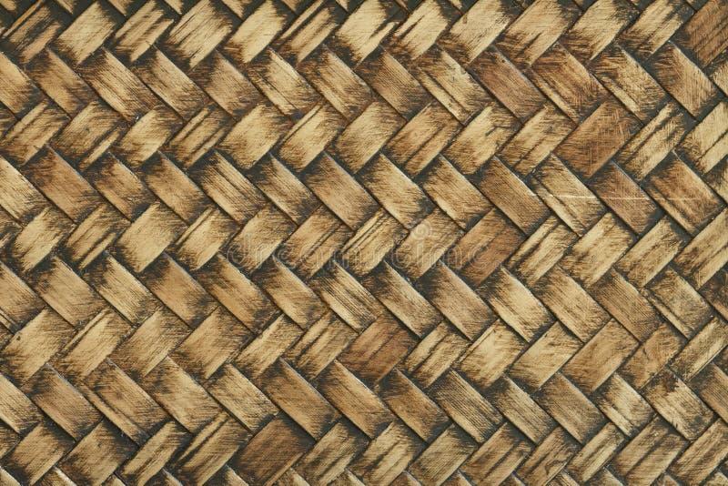 Bambu vävd textur arkivbilder