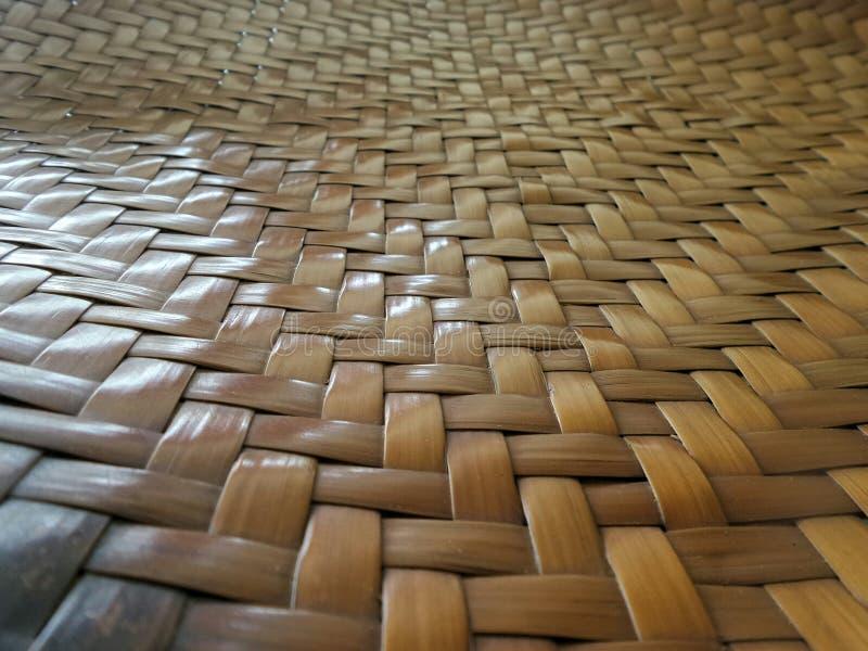 bambu vävt mattt arkivbilder
