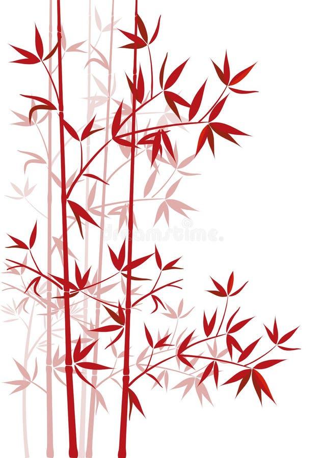 Bambu vermelho ilustração stock