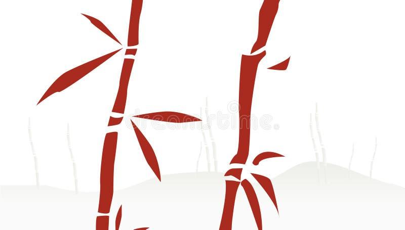 bambukinestrees royaltyfri illustrationer