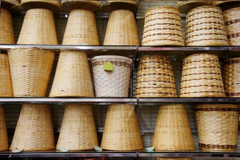 bambukorg fotografering för bildbyråer