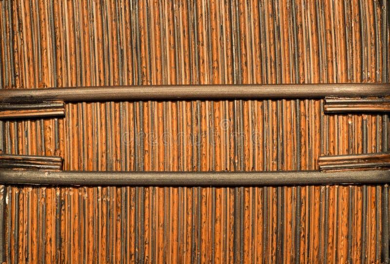 Bambukorg royaltyfri fotografi