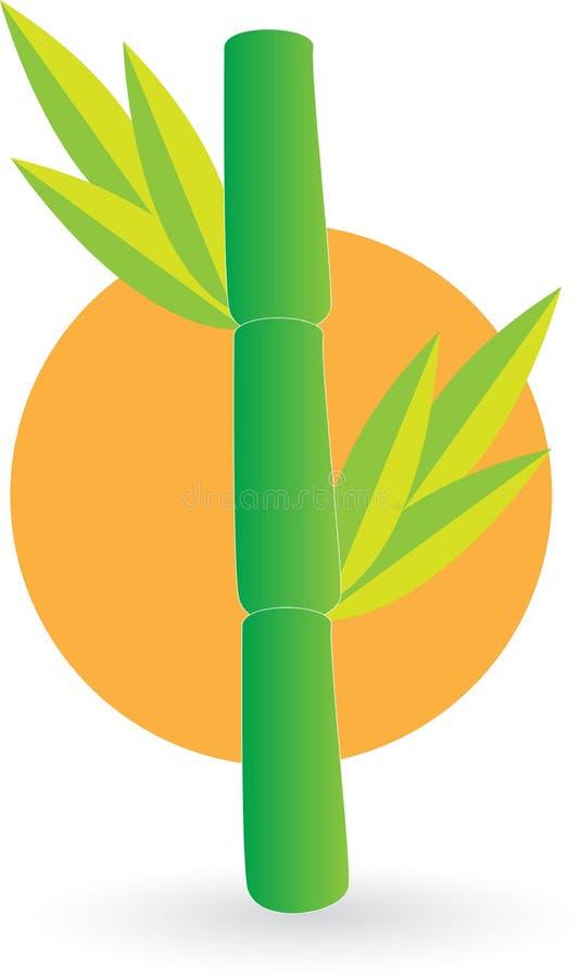 Bambulogo vektor illustrationer