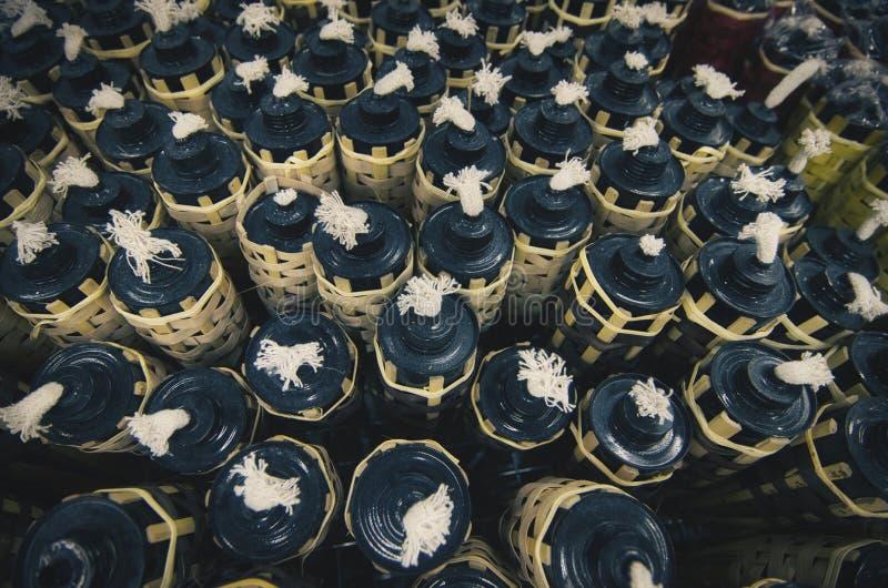 Bambuoljalampor för beröm för eidul Fitr arkivbild