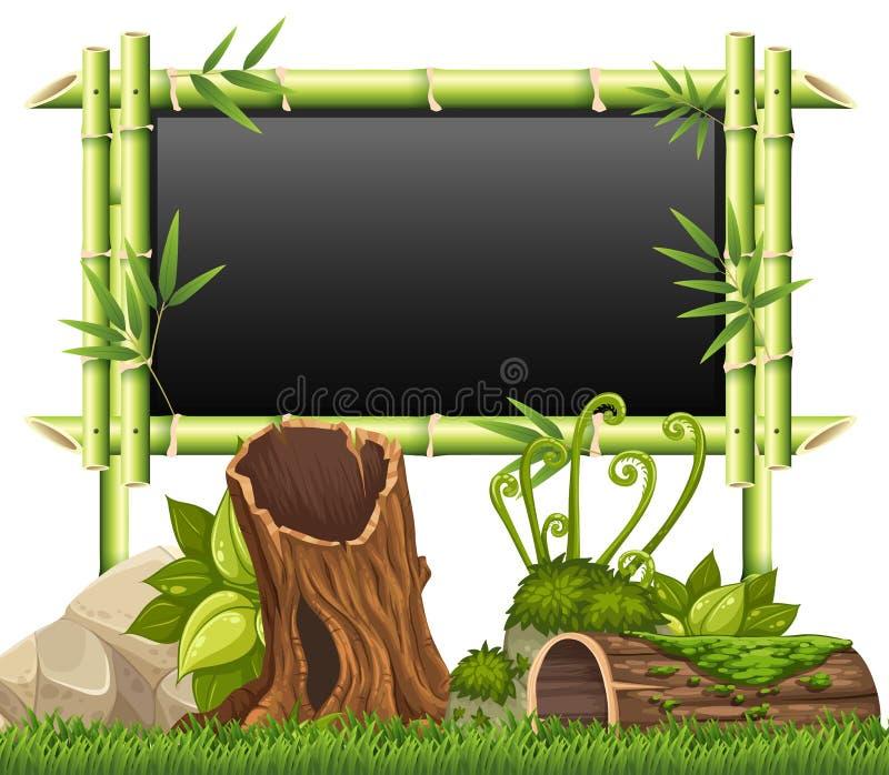Bamburam i trädgården vektor illustrationer