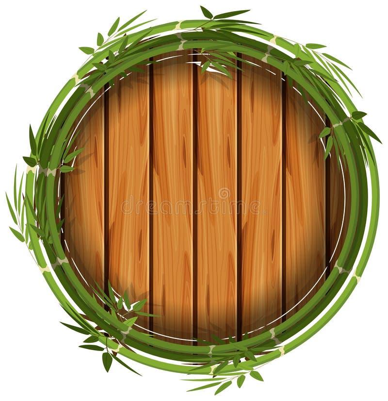 Bamburam med träbrädet royaltyfri illustrationer