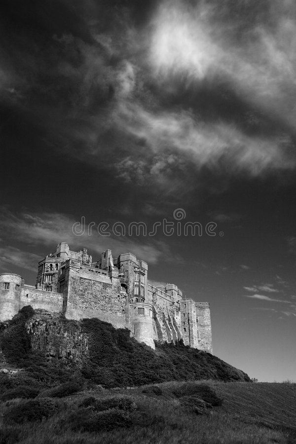 bamburgh城堡 库存照片