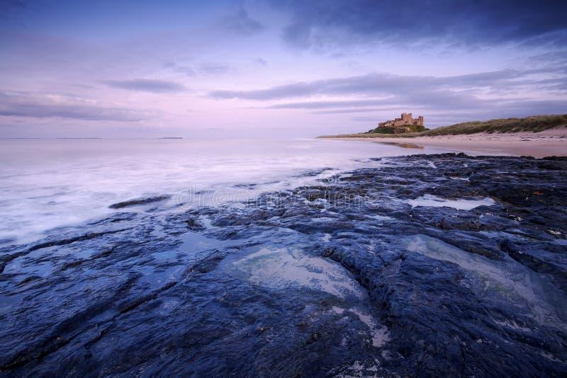 Bamburgh城堡 免版税库存图片