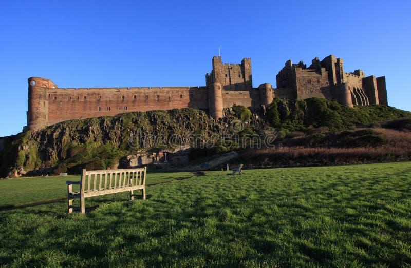bamburgh城堡 库存图片
