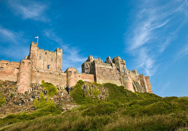 Bamburgh Castle. A shot of Bamburgh Castle in Northumberland royalty free stock photography
