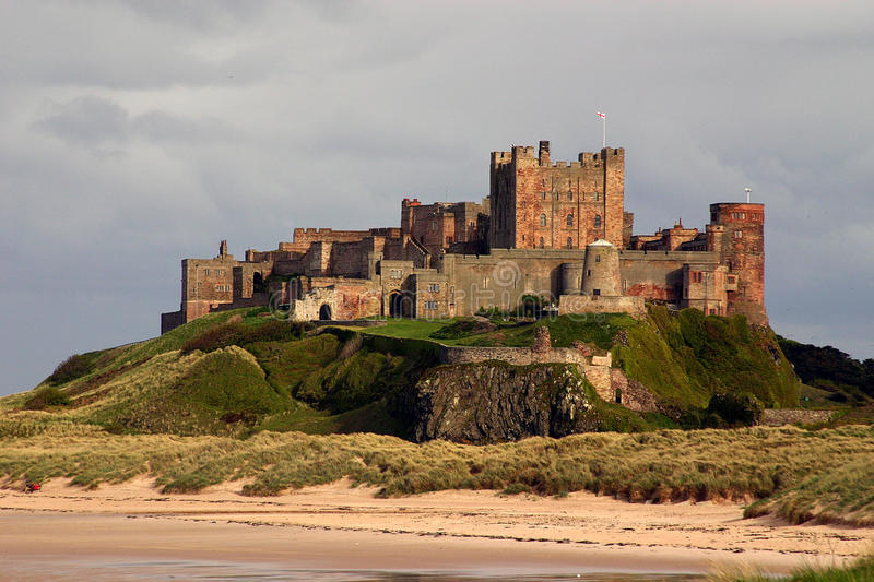 Bamburgh Castle. Bamburgh Castle on the east coast of Northumberland in the UK royalty free stock photo