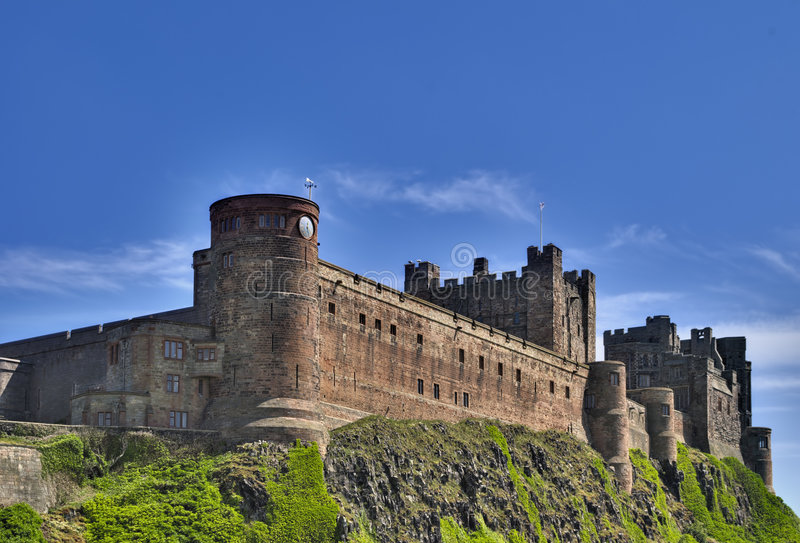 Bamburgh Castle. On the Northumberland coast, North East England royalty free stock photos