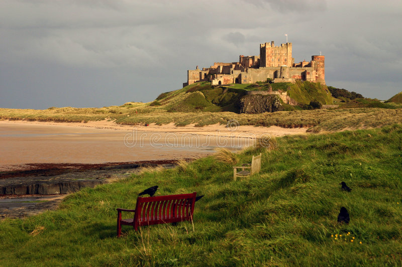 Bamburgh Castle. The famous Bamburgh Castle on the east coast of northern England in Northumberland stock photography