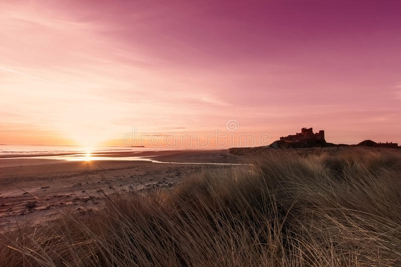 Bamburgh Castle. An image of Bamburgh Castle at sunrise royalty free stock photos