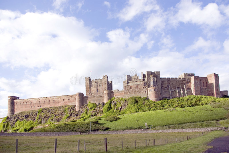 Bamburgh Castle from the North royalty free stock photo