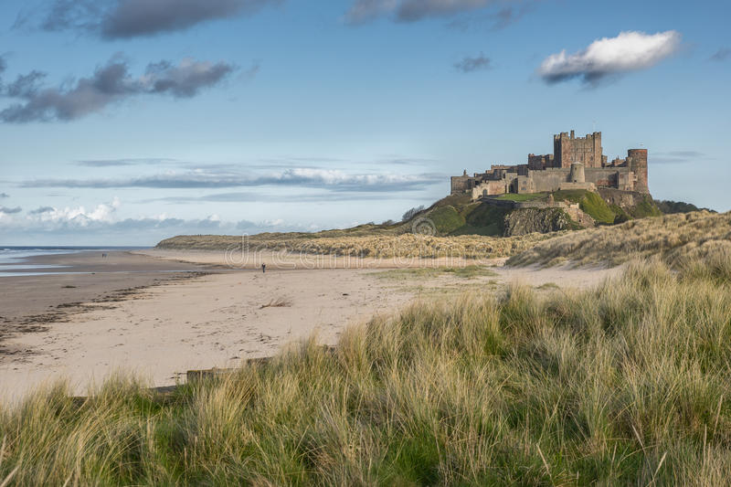 Bamburgh Castle. On the Northumberland coast in England royalty free stock photos