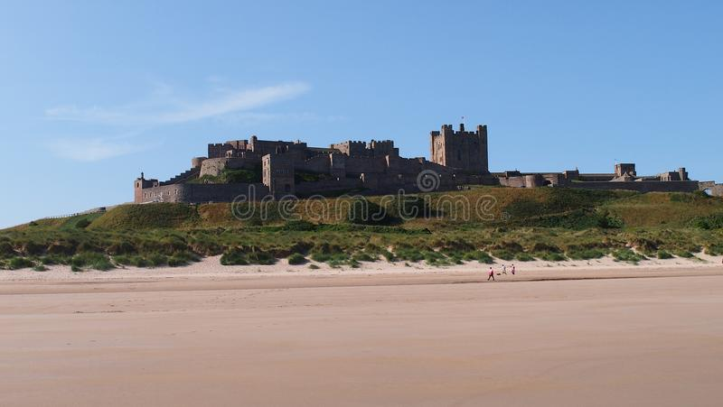 Bamburgh Castle in Northumberland, Great Britain stock images